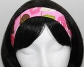 Pink and Brown Leaf Headband