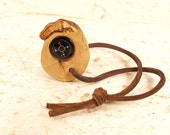 Crape Myrtle Wood Stump Compass with Knot