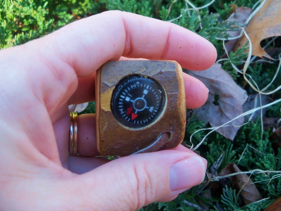 Wood  Compass,Waldorf Toy,Hiking,Camping,Wooden Educational