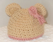 Beary Sweet Teddy Bear Hat and Diaper Cover Set