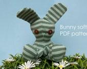Bunny softie PDF pattern