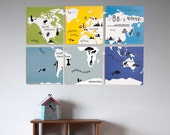 Kids World Map - Printable Wall Art