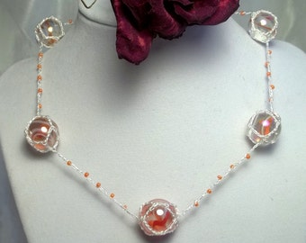 Creamsicle Marble Necklace