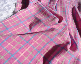 Vintage Candy Colored Plaid Length