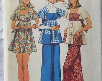 Cute Mini Dress or Smock & Wide Leg Pants Pattern