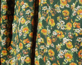 Vintage Floral Print Length