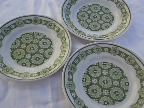 SALE- 3 Small Flower Power  Plates