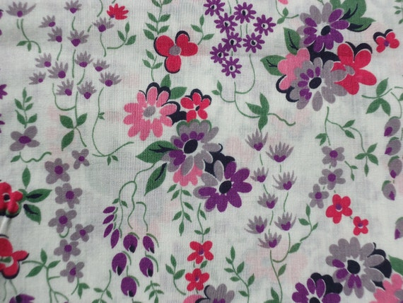 Fantasy Floral Fabric Remnant