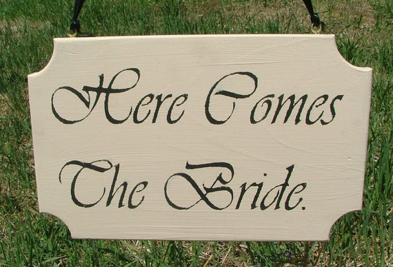 Here Comes The Bride  - Reclaimed Wood - Linen White