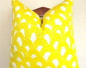 Designer Pillow - Decorative Pillow - Throw Pillow - Trina Turk for Schumacher - Arches - 20 inch Square - Bamboo - Indoor/Outdoor