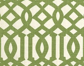 Designer Pillow Cover, Decorative Pillow, Throw Pillow, Kelly Wearstler, Imperial Trellis, Green Trellis, Green Geometric, Treillage Ivory