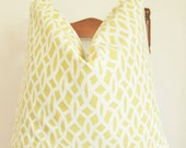 Schumacher - Chain Link - 20 in Square - Chartreuse - Fretwork - Trellis - Lattice - Decorative Pillow - Throw Pillow