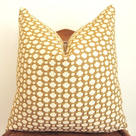 On Both Sides - Celerie Kemble for Schumacher - Betwixt - 20 inch Square - Biscuit/Ivory - Decorative Pillow - Throw Pillow