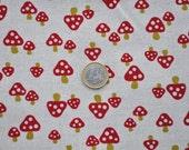 1 Fat Quarter - Kokka Fabric - Fly Agaric
