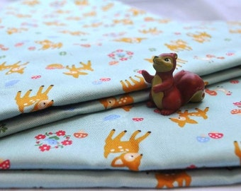 Japanese fabric - Little Bambi ( Baby Blue) - 2 meter/yard