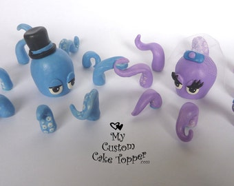 Octopus Custom Cake Topper