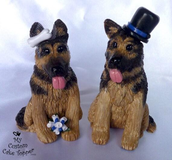 Dog Wedding Cake Toppers, German Shepherd DEPOSIT ONLY