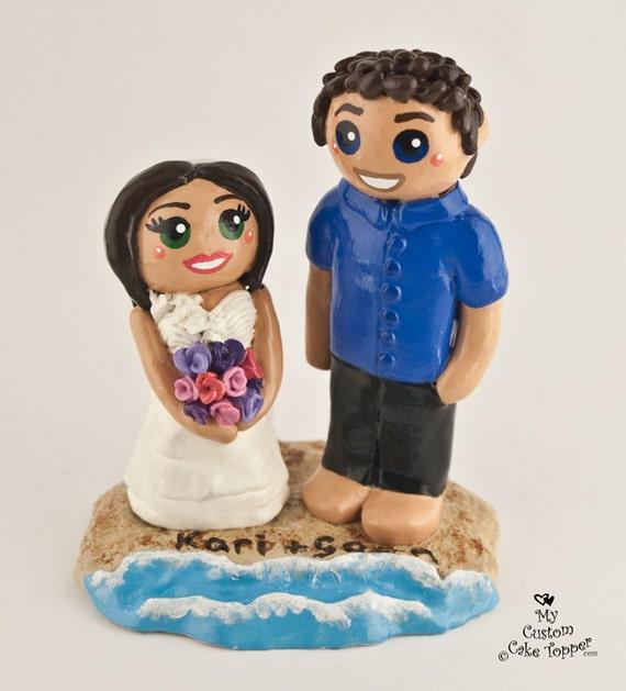 Bride and Groom Custom Wedding Cake Topper DEPOSIT ONLY
