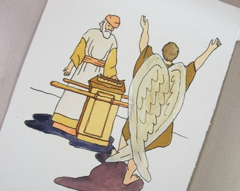 angel and priest New Testament painting