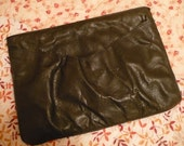Black Leather Vintage Hand Clutch