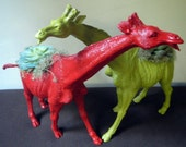 Girraffe Planter Couple - Modern Art Centerpieces