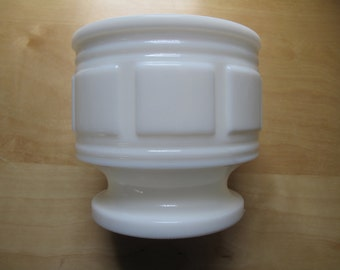 milk glass panel vase