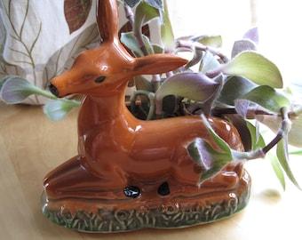 ceramic deer planter vase