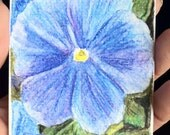 Spring Pansy Flowers aceo Watercolor original ACEO art drawing painting Brandy Woods