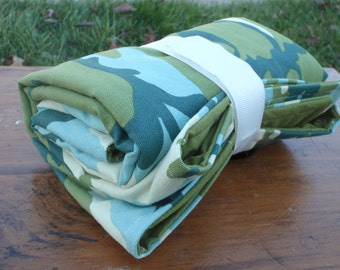 Changing Pad for Baby/Toddler Boy - Camouflage in Green and Blue and Cream