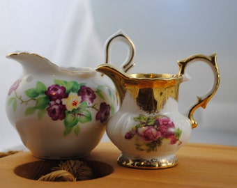 Set of Two Beautiful Miniature Creamers