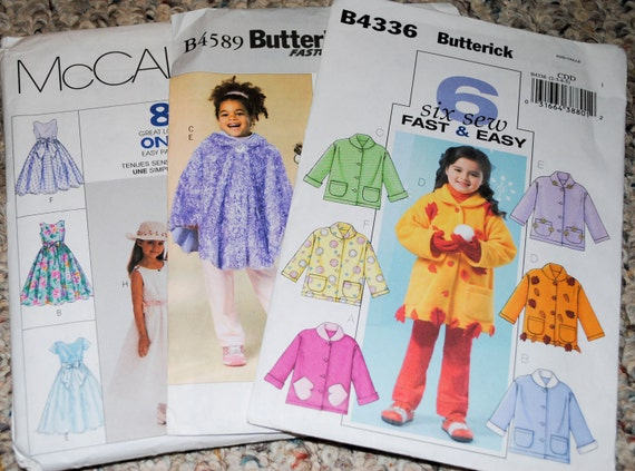 Patterns for Jackets and Dresses, child, Set of Three