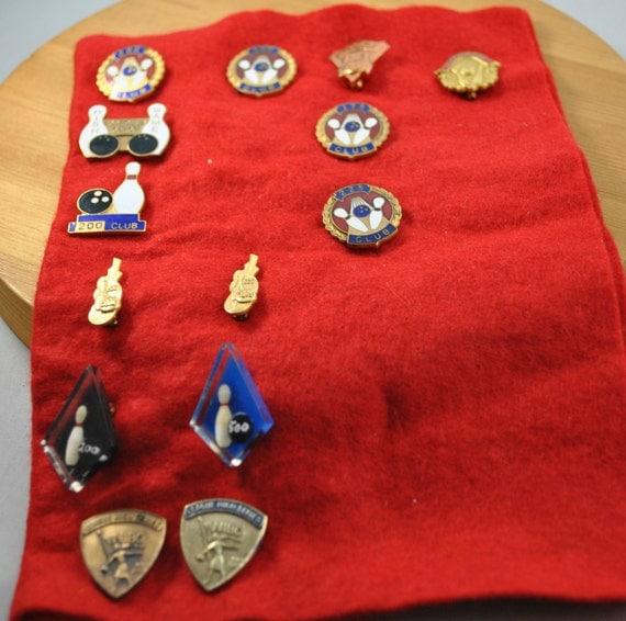 Vintage Bowling Lapel Pins