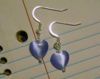 Color Choice: catseye puffed heart earrings