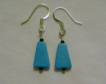 bell shaped turquoise earrings