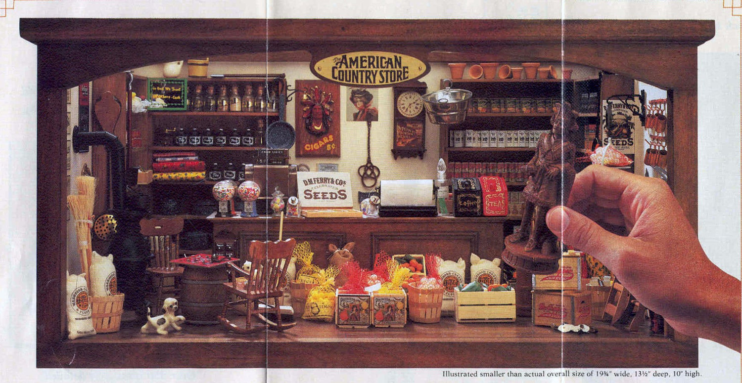 vintage american country store minatures collection franklin. Black Bedroom Furniture Sets. Home Design Ideas