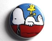 Woodstock and Snoopy, Best Friends - PIN or MAGNET