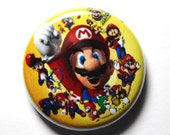 Mario Button - 1 inch PIN or MAGNET