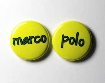 Marco Polo - 1 inch Buttons - Pin or Magnet