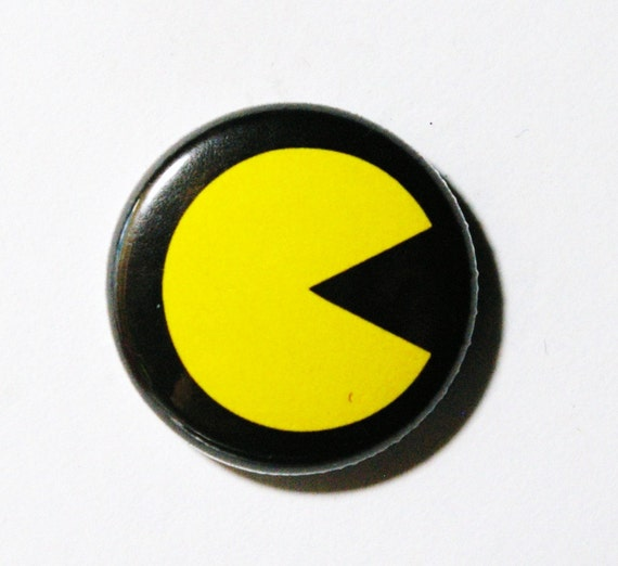 Pac Man - 1 inch Button, Pin or Magnet