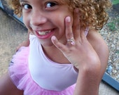 little girl's pink cz ring