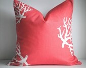 Decorative Pillow Cover In Coral Coral/White on Both Sides, Throw Pillow, Available In Different Sizes