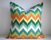 SET OF TWO -Indoor / Outdoor 18x18 Designer Pillow In Glamis Oasis