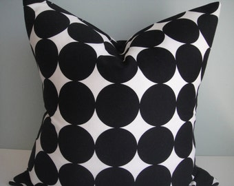 Decorative Pillow Cover In Dotscape Black, Throw Pillow, Available In  Different Sizes