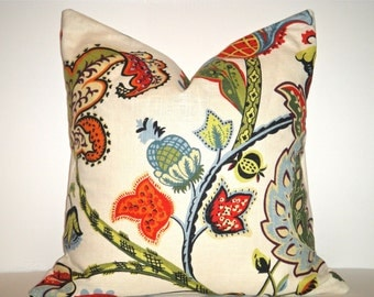 Clearance, Free US Shipping  18x18 Designer Pillow In Westchester Multi