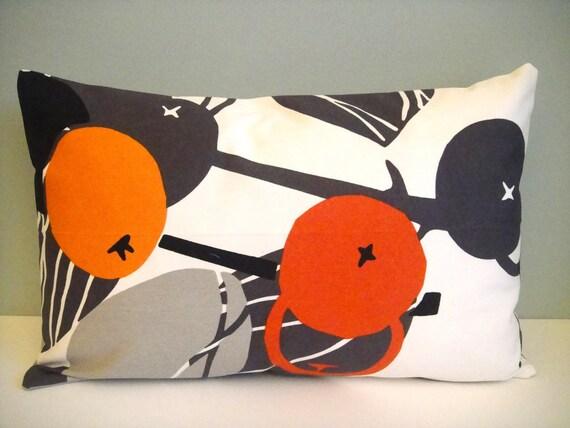 12x18 Lumbar Designer Pillow In Majken / Gray Orange