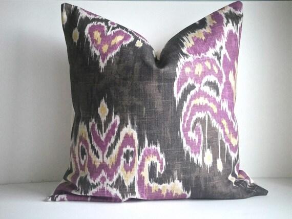 SET OF TWO- 16x16 Designer Pillow In Marreskesh Ikat Dusk