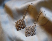Silver Doilie Earrings