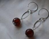 Brown Agate Drop Earrings