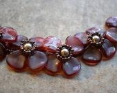 Fuscia Flower Bracelet - Shannon Collection