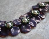 Purple Flower Bracelet - Shannon Collection